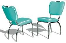 2 US 1950 Retro Vintage Style Diner Restaurant Kitchen Furniture Chair CO26 Turq