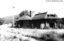 RPPC KENWOOD, CA Southern Pacific Railroad Depot 1940 Vintage Photo Postcard