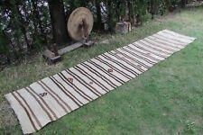 "Vintage Handmade Turkish Striped Runner Rug Kilim 142""x28"",360x72cm"