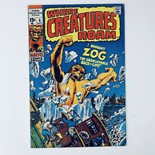 WHERE CREATURES ROAM #6 - Zog Appearance - Marvel Comics 1971 - VG/FN!!!