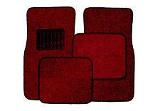 Front & Rear Carpet Car and Truck Floor Mats 4pc Set  - Burgundy