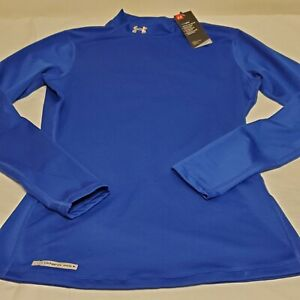 New Under Armour Women's Royal Blue UA Cold Gear Long Sleeve Fitted Sz M Med NWT