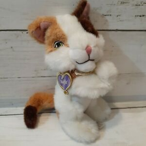 2004 Mattel Barbie Stuffed Animal Moving Arms Hug Hold Wolfie the Cat Plush Toy