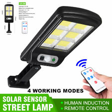 128 LED Energía Solar Sensor De Movimiento PIR Seguridad Para Exteriores Jardín Luz Lámpara de inundación