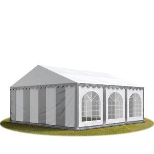 6x6m PVC Partyzelt Bierzelt Zelt Gartenzelt Festzelt Pavillon grau-weiß NEU