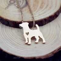 Rose Tone Jack Russell Terrier Dog Women's Necklace Pet Lover Animal