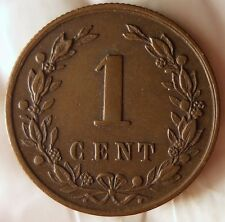 1878 NETHERLANDS CENT - AU - Very Collectible - Free Shipping - HV21