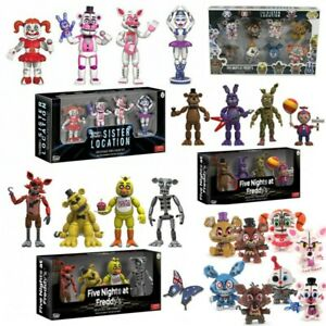 Five Nights at Freddy's Action Figure Pack Set FNAF Nightmare Doll Toy Kids Gift