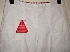 BNWT LADIES SOFT WHITE COTTON CARGO JEANS SAVOIR SIZE 10 SHORT LOTS OF POCKETS
