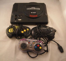 Sega Genesis Video Game Console 3 Console Untested No Power Supply