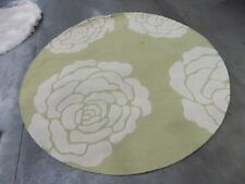 Light Green Ivory 6' Round Back Stain Rug Reduced Price 1172555294 CAM782Q-6R
