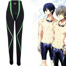 Casual Anime Free! Iwatobi Swim Club Makoto Tachibana Cosplay Pant Swim Trunks
