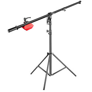 Neewer Pro Lamp Boom Stand 71 inches with Holding Arm for Monolight Ring Light