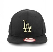 LA DODGERS New Era 9FIFTY Original Fit GOLD METAL Logo Snapback Hat Cap - BNWT