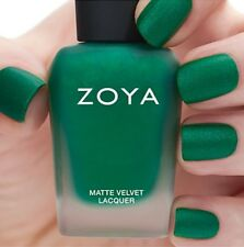 ZOYA ZP819 HONOR MATTE VELVET Winter Holiday green w/ pearl matte nail polish