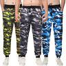 Mens Camo Trousers Sports Jogging Jogger Casual Slim Fit Sweatpants Track Pants