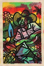CUBAN LIFE Original Art Painting Acrylic Canvas LEONARDO RUBIO BRIDON  R2