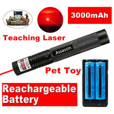 900Miles Red Laser Pointer Pen 650nm Visible Beam Light+2 x 18650+Dual Charger