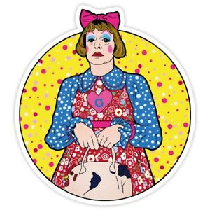 Grayson Perry Inspired Vinyl Sticker
