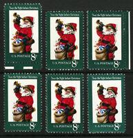 #1472 1972 8c EFO Santa Claus Color Shift Error Group Mint Never Hinged