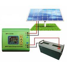 7210A MPPT LCD Solar Panel Battery Regulator Charge Controller DC 12-60V