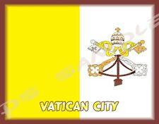 VATICAN CITY - FLAG - Travel Souvenir Flexible Fridge Magnet