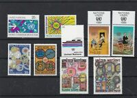 united nations mint never hinged 1983 stamps ref 16609