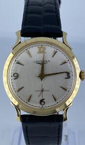 Longines 14K Yellow Gold 21.5dwt 2033p Vintage Manual Winding Wristwatch