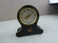 Ancien réveil / horloge / pendule, décor fleur, Emes Germany