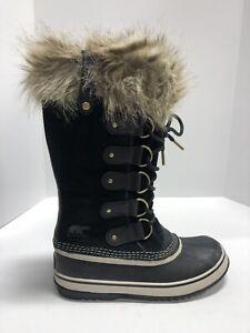 Sorel Joan Of Artic Black Waterproof Winter Boots Women's Size 8M