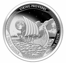 "NEW Vikings Proverbs Proof Series ""Never Walk Away"" #1 of 3 Norse Valhalla COA"