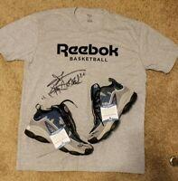 Allen Iverson Signed 76ers Reebok Legacy Basketball Shoes & Shirt Beckett-W COA