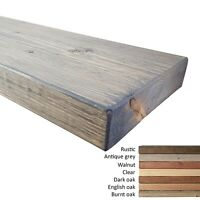 Floating Wide Wood Shelves. Rustic Style. Various Lengths, Widths And Colours.