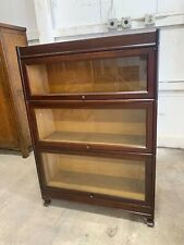 Antique Mahogany Lawyer's Barrister Bookcase 3 Stack Units