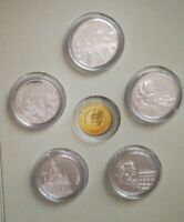 5 x Gedenkprägungen des Jahres 2006 zu 10 Euro Münzen Medaillen Silber veredelt
