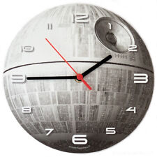 DEATH STAR - Glow-in-the-Dark - WALL CLOCK boys childrens bedroom star wars gift