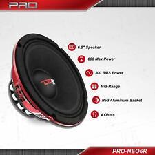 "DS18 PRO-NEO6R 6.5"" Neodymium Midrange Loud Speaker 600 Watt Audio Neo Mid Range"