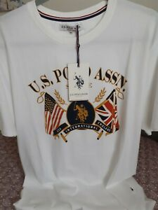 U.S. Polo Assn Mens T-Shirt White Size XL