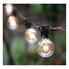 50Ft G40 Globe String Lights with Clear Bulbs, UL listed Backyard Patio Lights