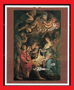 ZAYIX -  1988 Niue 568 MNH - Rubens Christmas Painting souvenir sheet