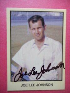 Joe Lee Johnson signed 1990 MOR 1960 INAUGURAL WORLD 600 WINNER WC Card #242