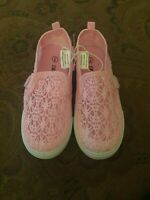Swiggles Toddler Girls Pink Crochet Slip On Shoes Size 9 ~ New With Tags
