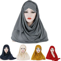 Muslim Women Solid Color Scarf Headgear shawl scarf Wrap Hijab Arab Cotton Scarf
