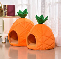 Cute Dog Pet Gear Pineapple Dog Cat Bed House Small Plush Soft Cushion Supplies
