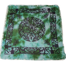 """NEW IN PACKAGE Green Man Altar Cloth 18"""" Celtic Wicca Pagan Rayon - New Design!"""