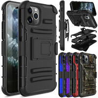 For iPhone 11/11 Pro Max/XR/XS Max Case Shockproof Belt Clip Holster Stand Cover