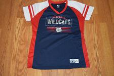 NEW Womens Knights Apparel ARIZONA WILDCATS Navy Red NCAA V-Neck Shirt Sz M