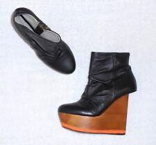 FINSK URBAN OUTFITTERS LIMITED EDITION bottines zippées cuir noir P 38 (5)