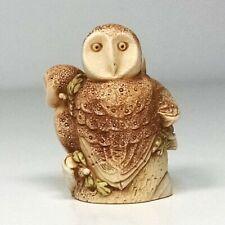 Vtg Harmony Kingdom Wee Beastie Helen the Owl Xxytjleow Brookfield Zoo Sgn Ec