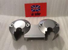 YAMAHA YBR125 Custom Speedo / Clocks  Plastic Back Cover Metallic Silver